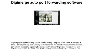 auto port forwarder digimerge auto port forwarding software docs