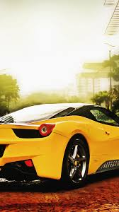 Ferrari 458 Yellow - ferrari 458 spider yellow android wallpaper free download