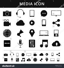 media icons simplus series each icon stock vector 626643527