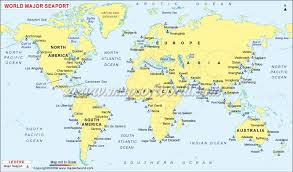 de janeiro on the world map major ports of the world world sea ports map