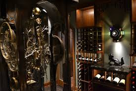 art donovan designs cool steampunk lamps for a wine cellar in