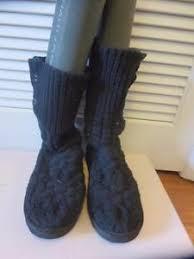 s ugg australia black boots womens ugg australia black boots size m6 l7 ebay