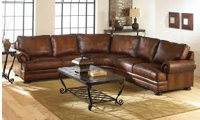 Worn Leather Sofa Captivating Worn Leather Sectional Distressed Leather Sectional