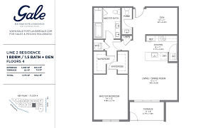floor plan key the gale line 2 floor plan 1 bed 1 5 bath floor 4