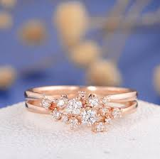 snowflake engagement ring diamond cluster ring gold twig engagement ring floral