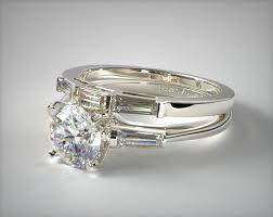 gold wedding set tapered baguette diamond wedding set 18k white gold 1715014201w