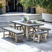 cement table and bench outdoor cement bench concrete patio furniture how to make table