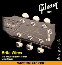 Light Guitar Strings by Gibson Brite Wires Electric Guitar Strings 9 42 Seg 700ul Ultra