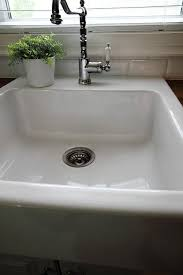 How To Clean The Kitchen Sink How To Clean A White Porcelain Sink The Creek Line House