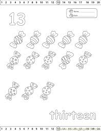 13 number coloring free numbers coloring pages