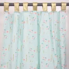 Yellow Nursery Curtains by Caden Lane Coral And Gold Sparkle Baby Bedding Petite Enchantments