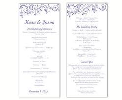 wedding program sles free free printable wedding program sles 28 images 13 best images