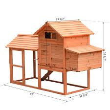 Backyard Chicken Coops Review by Pawhut Deluxe Wood Chicken Coop Nesting Box Backyard Poultry Hen