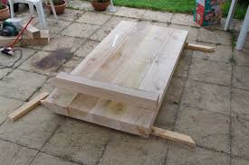 Plans For Making A Garden Table by Busy Being Inefficient Diy Project Oak Beam Garden Furniture