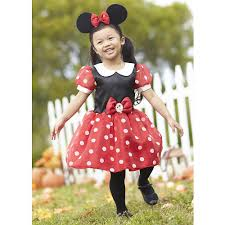 Polka Dot Dress Halloween Costume Disney Girls 2 Piece Red Black Minnie Mouse Halloween Costume