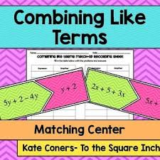 46 best combining like terms images on pinterest combining like
