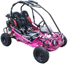 pink kid car trailmaster mini xrx r kids gokart