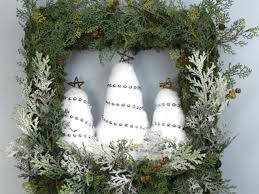 How To Make Wreaths How To Make A Snowy Tree Square Wreath Hgtv