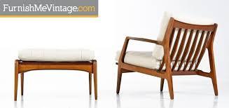 Leather Armchair With Ottoman Kofod Larsen Leather Chair With Ottoman