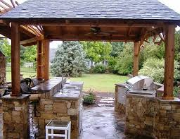 back yard kitchen ideas nicely decorated garden kitchen design with patio laredoreads