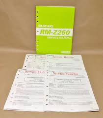 2004 suzuki rm z250 rmz250 k4 shop service manual 99500 42181 01e