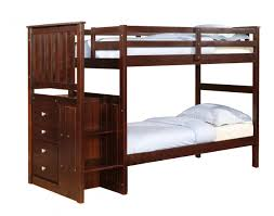Solid Wood Bunk Beds With Storage Solid Wood Espresso Staircase Bunk Bed With Storage Rooms