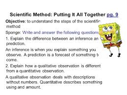 scientific method putting it all together pg ppt video online