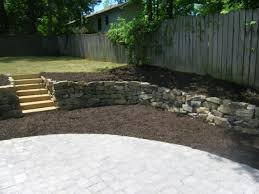 Paver Patio With Retaining Wall by Retaining Walls Boulder Aca Landscaping