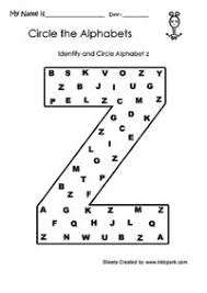 identify and circle alphabets worksheets letter recognition
