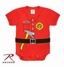Fireman Halloween Costume Fireman Firefighter Uniform Infant Toddler Baby 1 Piece Halloween