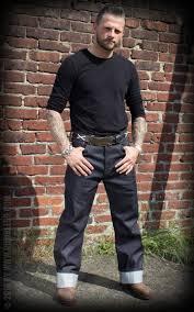 rumble59 jeans raw denim rockabilly denim 50s style