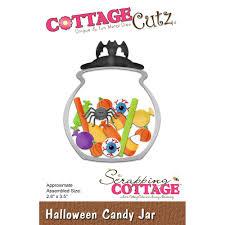 halloween dies cottage cutz die halloween candy jar