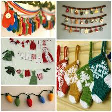 round up knitted holiday decorations christmas knitting
