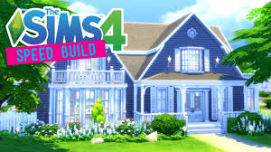 the sims 4 speed build cozy cape cod cottage no cc youtube
