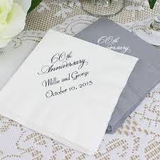 60th anniversary plates custom printed 60th wedding anniversary cocktail napkins