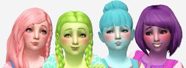 childs hairstyles sims 4 noodles simlaughlove child hair recolors here are all of