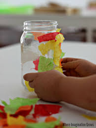 thanksgiving project for kids mason jar fall luminaries craft where imagination grows