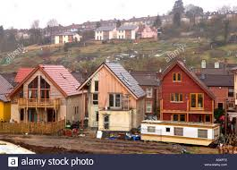 build on site homes self build eco homes under construction at the ashley vale site in