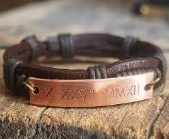 mens personalized bracelet unique men s gift mens personalized bracelet men s leather