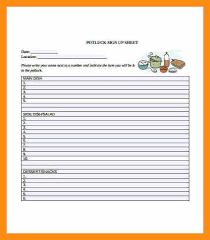 9 potluck sign up sheet template abstract sample