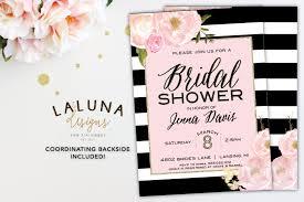 where to register for a bridal shower bridal shower invitation floral black white stripe bridal