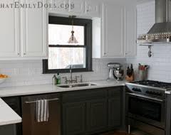 kitchens white top dark bottom cabinets google search kitchens