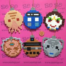 doctor who bauble set hama perler by zo zo tings