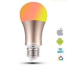 smart lights google home rgb light bulb work with google home dimmable e26 e27 smart l 6w