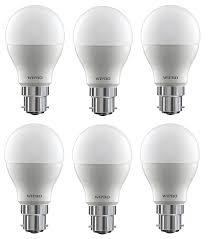 wipro garnet base b22 18 watt led bulb pack of 10 cool day light