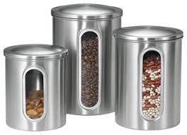 designer kitchen canisters 3 vertical window canister set contemporary kitchen