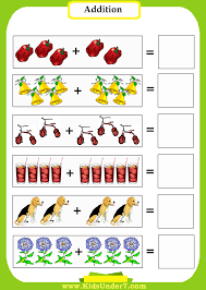 kids under 7 addition worksheets