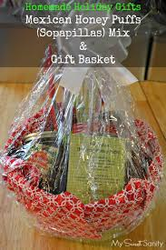 where to buy plastic wrap for gift baskets mexican honey puff mix in a gift basket my sweet sanity