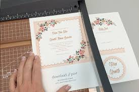wedding invitations calgary printable invitation paper free delicate floral wedding invitation