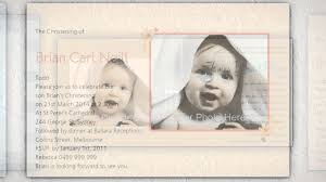 Sample Of Invitation Card For Christening Personalised Baptism Invitations Youtube